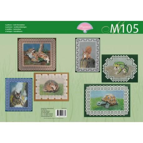 Pergamano livre de motifs M105 patron animaux -82015