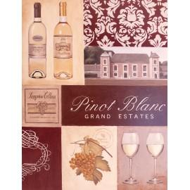 Carte postale 16x21cm vinters pinot blanc