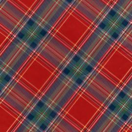 Feuille décopatch 30x40cm écossais vert bleu et rouge