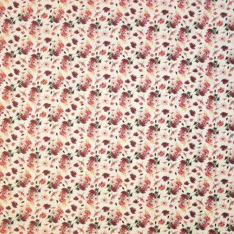 Papier tassotti motifs anémone du japon rouge et rose 50x70cm 473