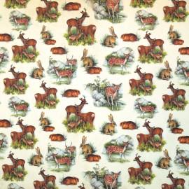 Papier tassotti motifs animaux des bois 50x70cm