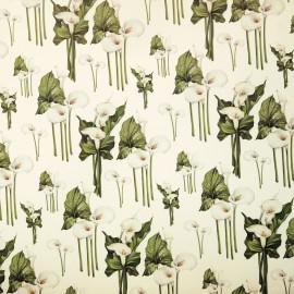 Papier tassotti motifs arum blanc 50x70cm