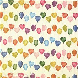 Papier tassotti motifs ballons cœur 50x70cm 326