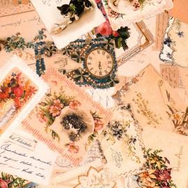 Papier tassotti motifs cartes anciennes 50x70 cm 1741