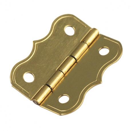 Cartonnage Charnières déco laitonnées doré 25x20mm x4