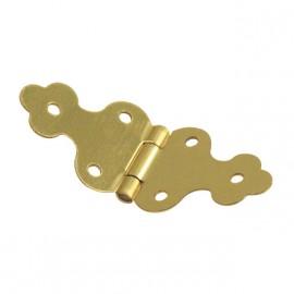 Cartonnage Charnières déco laitonnées doré 10x30mm x4