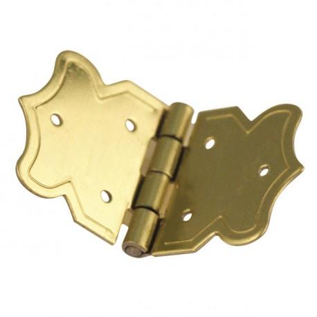 Cartonnage Charnières déco laitonnées doré 37x20mm x4