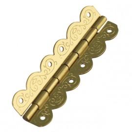 Cartonnage Charnières déco laitonnées doré 40x12mm x4