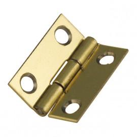 Cartonnage Charnières laitonnées doré 15x12mm x4
