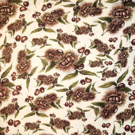 Papier tassotti motifs chataîgnes 50x70cm 126