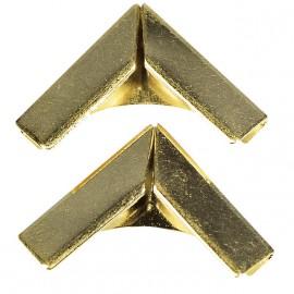 Coin en métal doré pour livres 14x14 mm
