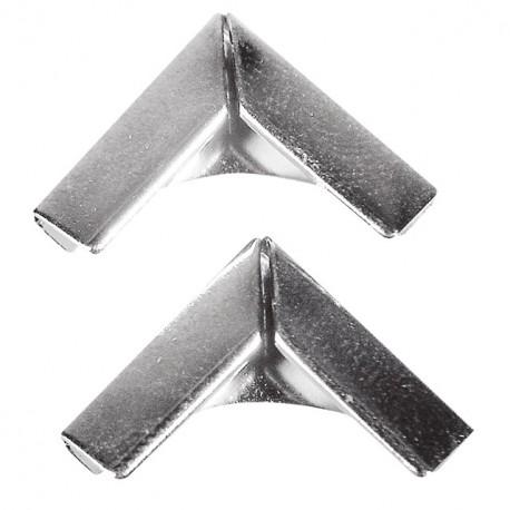 Coin en métal argenté pour livres 14x14 mm