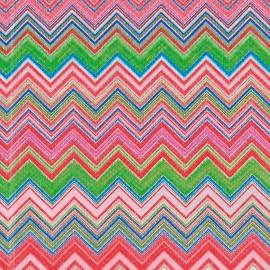 Feuille décopatch 30x40cm zigzag rouge vert bleu rose