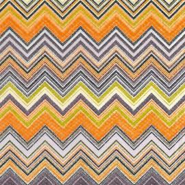 Feuille décopatch 30x40cm zigzag violet orange vert anis blanc et parme