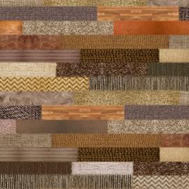 Feuille décopatch 30x40cm effet parquet bois et laine