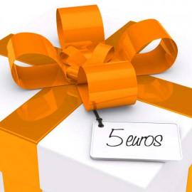 chèque cadeau valeur 5 EUR