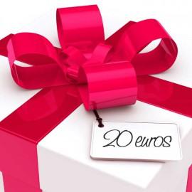 chèque cadeau valeur 20 EUR