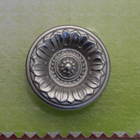 Cartonnage poignée bouton argent mat 39mm x1
