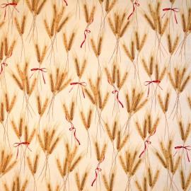 Papier tassotti motifs épis de blé et ruban rouge 50x70cm 468