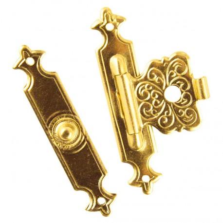 Cartonnage Fermoirs déco laitonnées doré 40x22mm x2