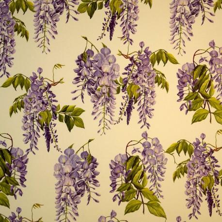 Papier tassotti motifs fleurs de glycine parme 50x70cm 160