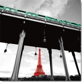 Carte Postale 14x14 cm Anne Valderde paris subway