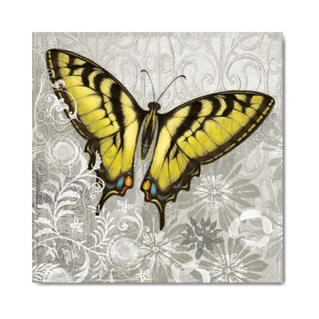 cartes postales encadrement carte alan hopfensperger yellow butterfly. Black Bedroom Furniture Sets. Home Design Ideas