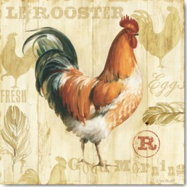 Carte Postale 14x14 cm Lisa Audit joli rooster I