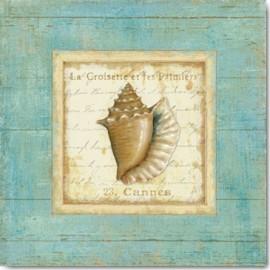 Carte Postale 14x14 cm Daphné Brissonnet bijou de mer I