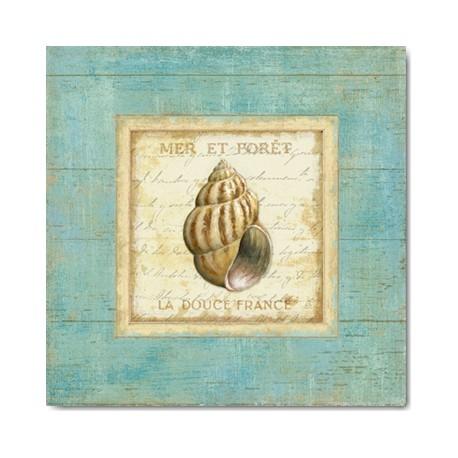 Carte Postale 14x14 cm Daphné Brissonnet bijou de mer II