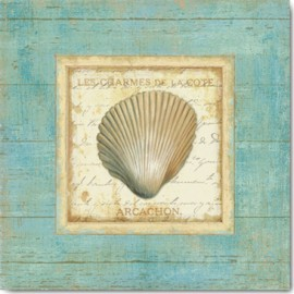 Carte Postale 14x14 cm Daphné Brissonnet bijou de mer III