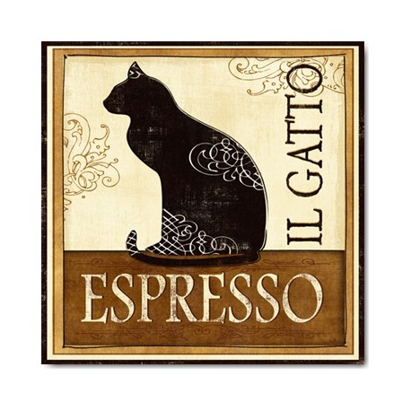Carte Postale 14x14 cm Véronique Charron il gatto