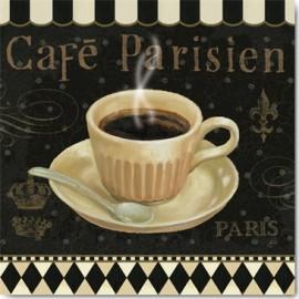 Carte Postale 14x14 cm Daphné Brissonnet café parisien I