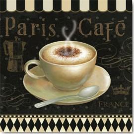 Carte Postale 14x14 cm Daphné Brissonnet café parisien III
