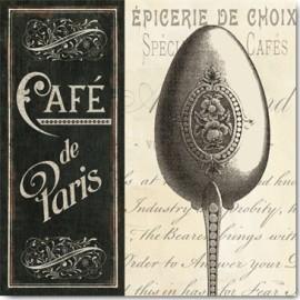 Carte Postale 14x14 cm Pela Studio french menu I