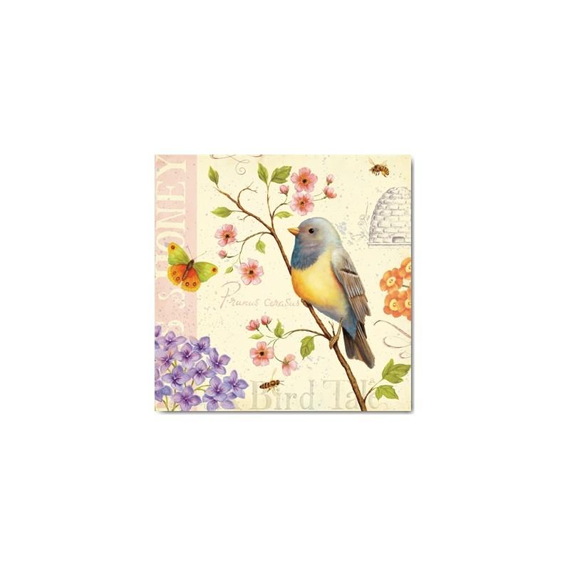carte postale encadrement daphn brissonnet birds and bees i. Black Bedroom Furniture Sets. Home Design Ideas