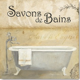 Carte Postale 14x14 cm Avery Tillmon savons de bains II