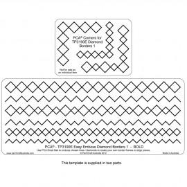 PCA Template GAUFRAGE diamond border n°1 bold  de 0.5 cm à 1cm
