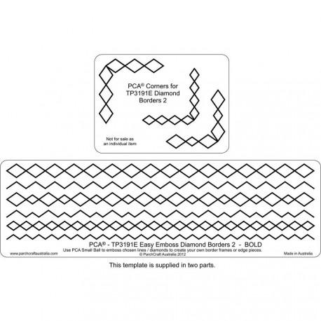 PCA Template GAUFRAGE diamond border n°2 bold de 0.5 cm à 1cm