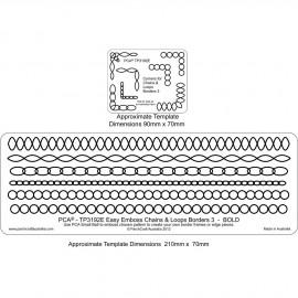 PCA Template GAUFRAGE oval et chaine border n°3 bold de 0.5 cm à 1cm