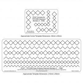 PCA Template GAUFRAGE diamond border n°4 fine  de 0.5 cm à 1cm