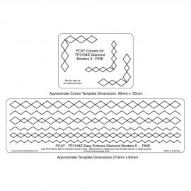 PCA Template GAUFRAGE diamond border n°5 fine de 0.5 cm à 1cm