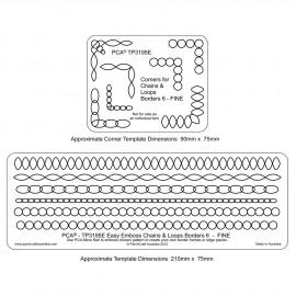 PCA Template GAUFRAGE oval et chaine border n°3 fine de 0.5 cm à 1cm