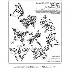PCA Template GAUFRAGE n°1 petits papillons 4x5 cm