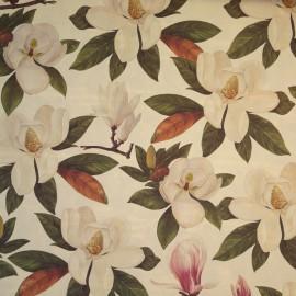 Papier tassotti motifs magnolias blanc et rose 50x70cm 312