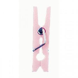 pinces à linge plastique rose layette par 12 - 2 x 0.3 cm