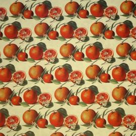 Papier tassotti motifs oranges et fleur d'oranger 50x70cm 1697