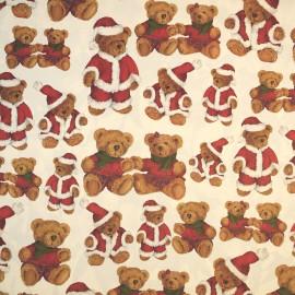 Papier tassotti motifs ours en peluche de noël 50x70cm 192