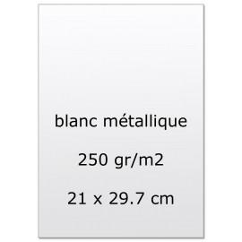 Papier pour carte et faire part blanc nacré x5 250g