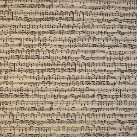 Papier tassotti motifs partition notes de musique 50x70cm 554